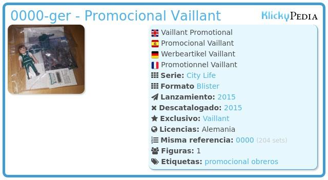 Playmobil 0000-ger - Promocional Vaillant