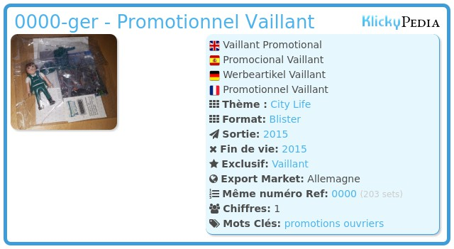 Playmobil 0000-ger - Promotionnel Vaillant