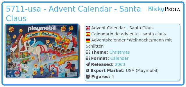 Playmobil 5711-usa - Advent Calendar - Santa Claus