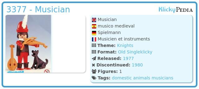 Playmobil 3377 - Musician