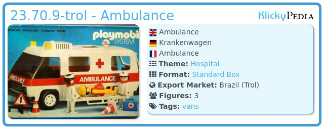 Playmobil 23.70.9-trol - Ambulance
