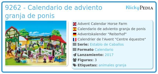 Playmobil 9262 - Calendario de adviento granja de ponis