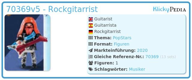 Playmobil 70369v5 - Guitarist