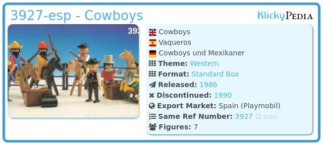 Playmobil 3927-esp - Cowboys