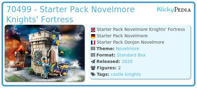Playmobil 70499 - Starter Pack Novelmore dungeon