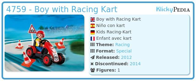 Playmobil 4759 - Boy with Racing Kart