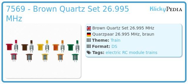 Playmobil 7569 - Brown Quartz Set 26.995 MHz