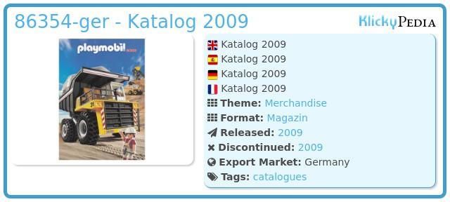 Playmobil 86354-ger - Katalog 2009