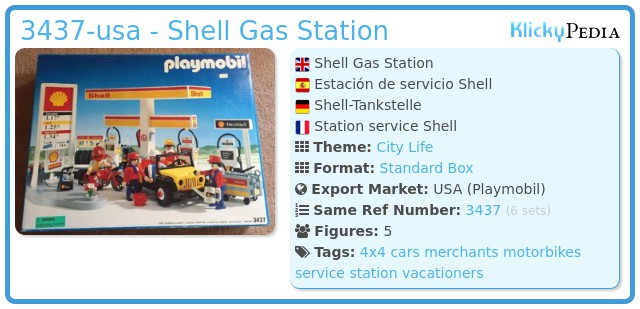 Playmobil 3437-usa - Shell Gas Station