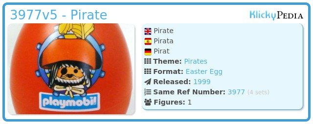 Playmobil 3977v5 - Pirate