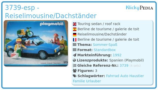 Playmobil 3739-esp - Reiselimousine/Dachständer