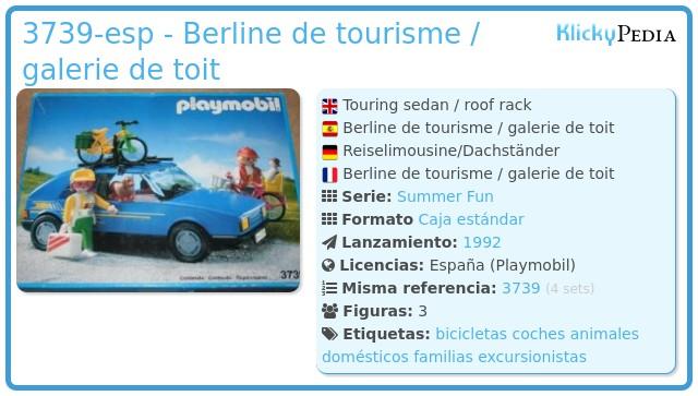Playmobil 3739-esp - Berline de tourisme / galerie de toit