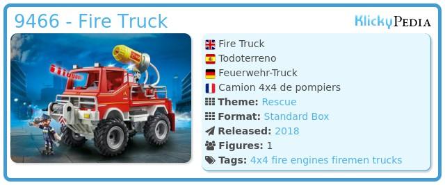 Playmobil 9466 - Fire Truck