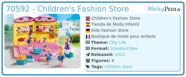 Playmobil 70592 - Fashion shop for children