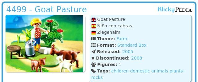 Playmobil 4499 - Goat Pasture