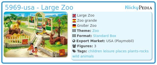 Playmobil 5969-usa - Large Zoo
