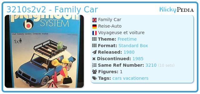 Playmobil 3210s2v2 - Blue Car