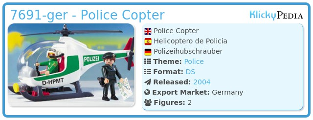 Playmobil 7691-ger - Police Copter