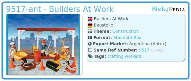 Playmobil 9517-ant - Builders At Work