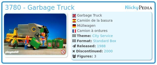Playmobil 3780 - Garbage Truck