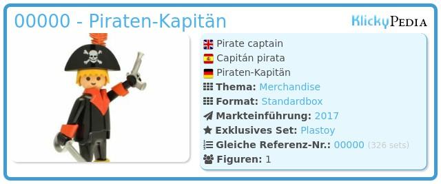 Playmobil 00000 - Piraten-Kapitän