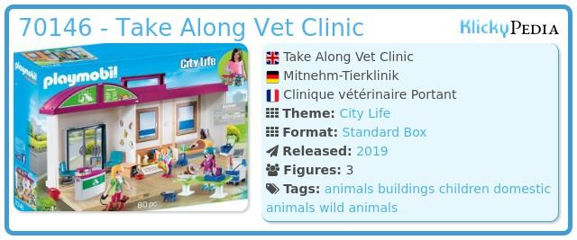 Playmobil 70146 - Mitnehm-Tierklinik