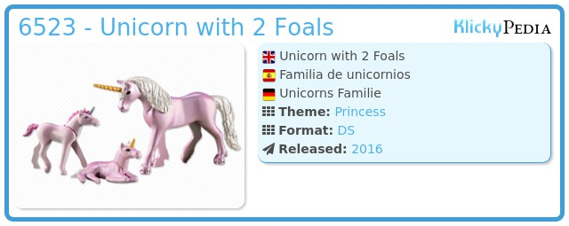 Playmobil 6523 - Unicorn with 2 Foals