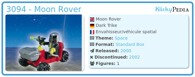 Playmobil 3094 - Moon Rover
