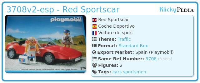 Playmobil 3708v2-esp - Red Sportscar