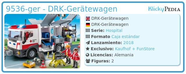 Playmobil 9536-ger - DRK-Gerätewagen