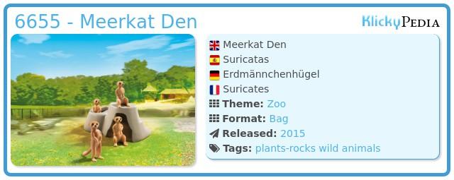 Playmobil 6655 - Meerkat Den