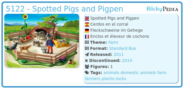 Playmobil 5122 - Spotted Pigs and Pigpen