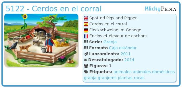 Playmobil 5122 - Cerdos en el corral