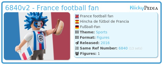 Playmobil 6840v2 - France football fan