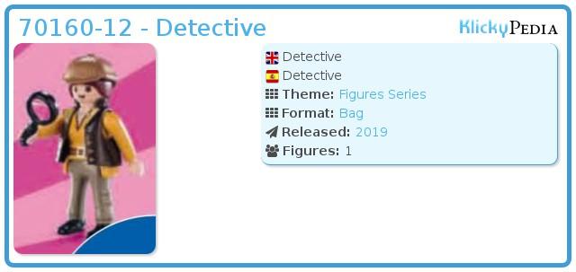 Playmobil 70160-12 - Detective