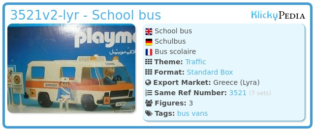 Playmobil 3521v2-lyr - School bus
