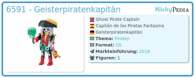 Playmobil 6591 - Ghost Pirates leader