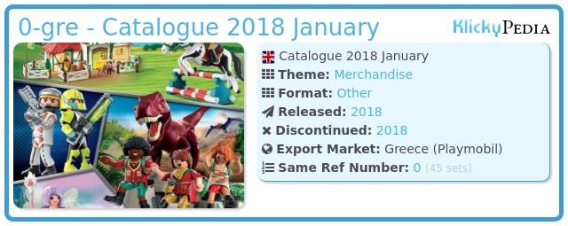 Playmobil 0-gre - Catalogue 2018 January