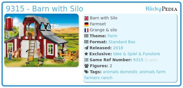 Playmobil 9315 - Barn with Silo