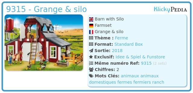 Playmobil 9315 - Grange & silo