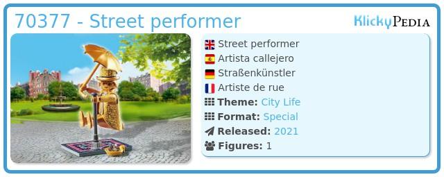Playmobil 70377 - Street performer