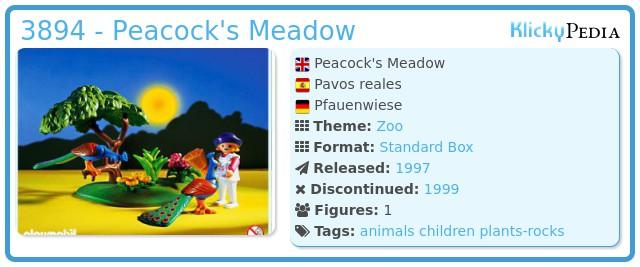Playmobil 3894 - Peacock's Meadow