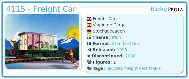 Playmobil 4115 - Freight Car