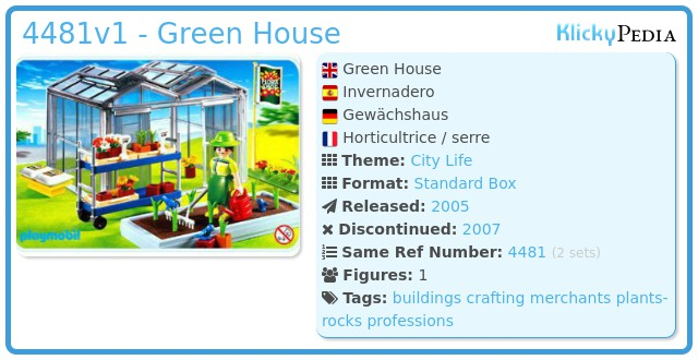 Playmobil 4481 - Green House