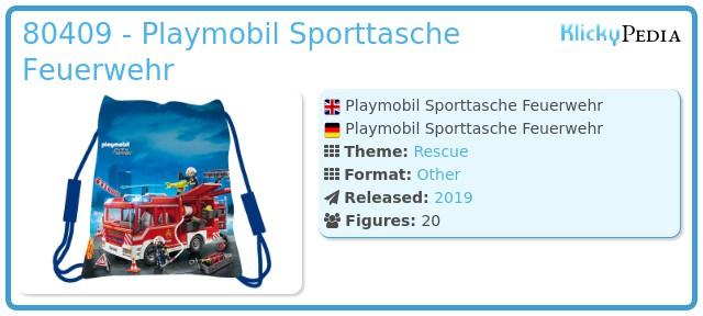 Playmobil 80409 - Playmobil Sporttasche Feuerwehr