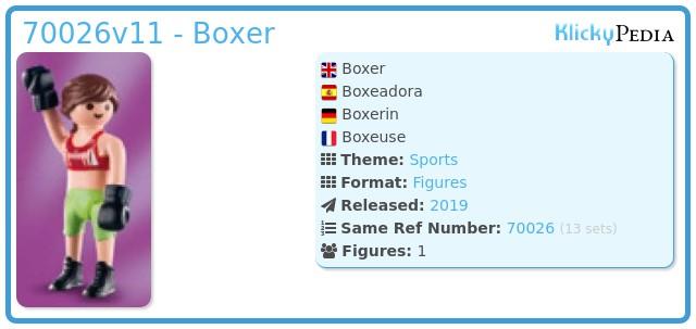 Playmobil 70026v11 - Boxer