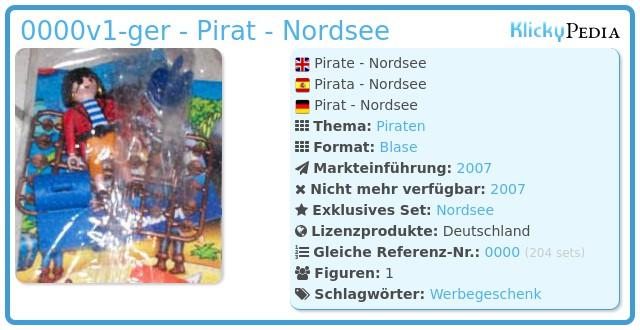 Playmobil 0000v1-ger - Pirat - Nordsee