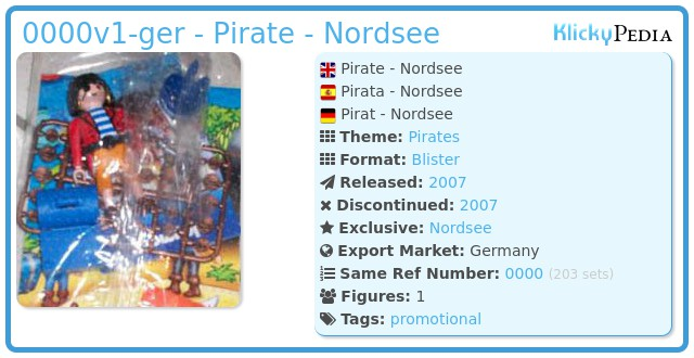 Playmobil 0000v1-ger - Pirate - Nordsee