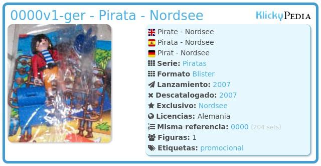 Playmobil 0000v1-ger - Pirata - Nordsee