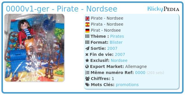 Playmobil 0000v1-ger - Pirate - Nordsee